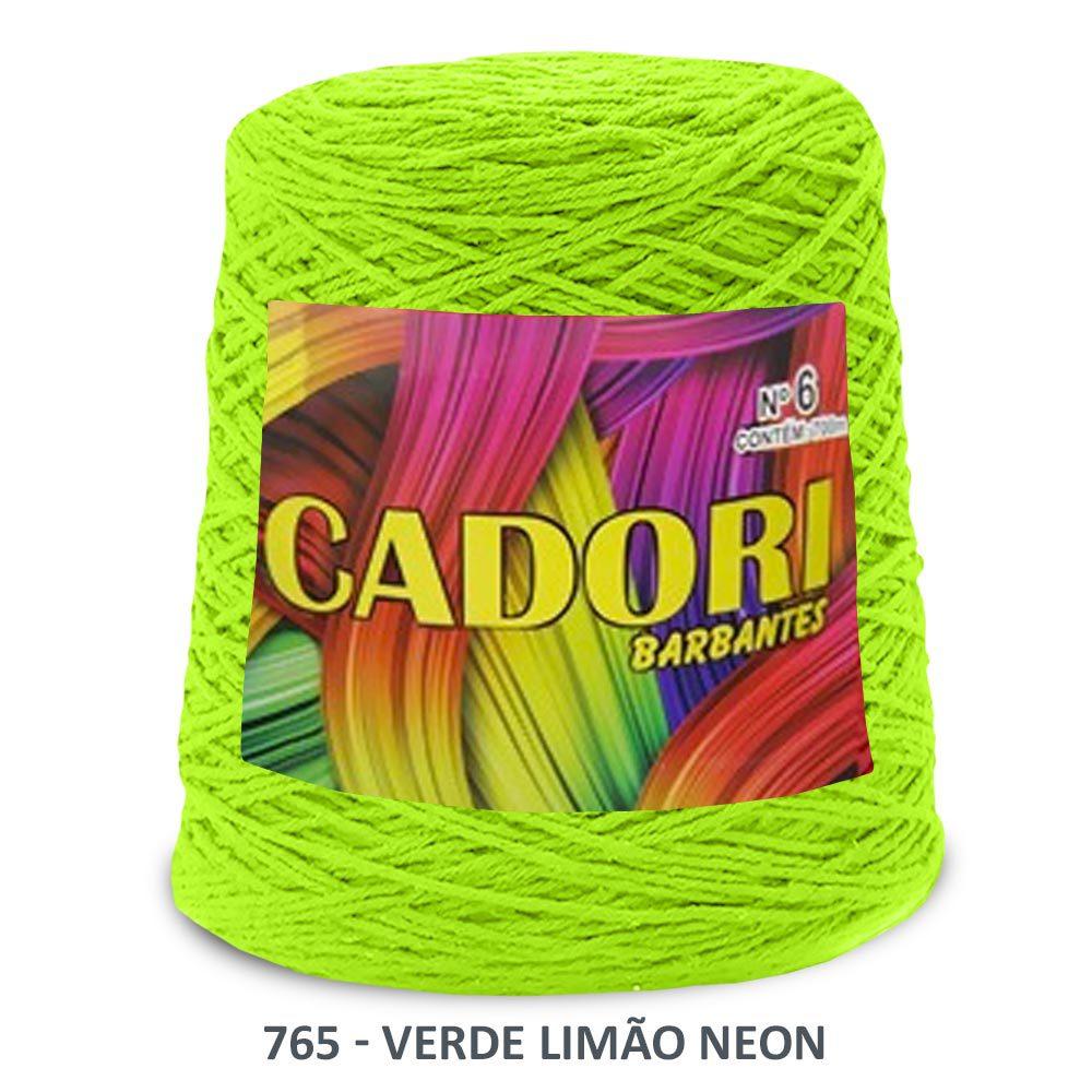 kit 3 Barbante Cadori N06 - 700m Verde Neon