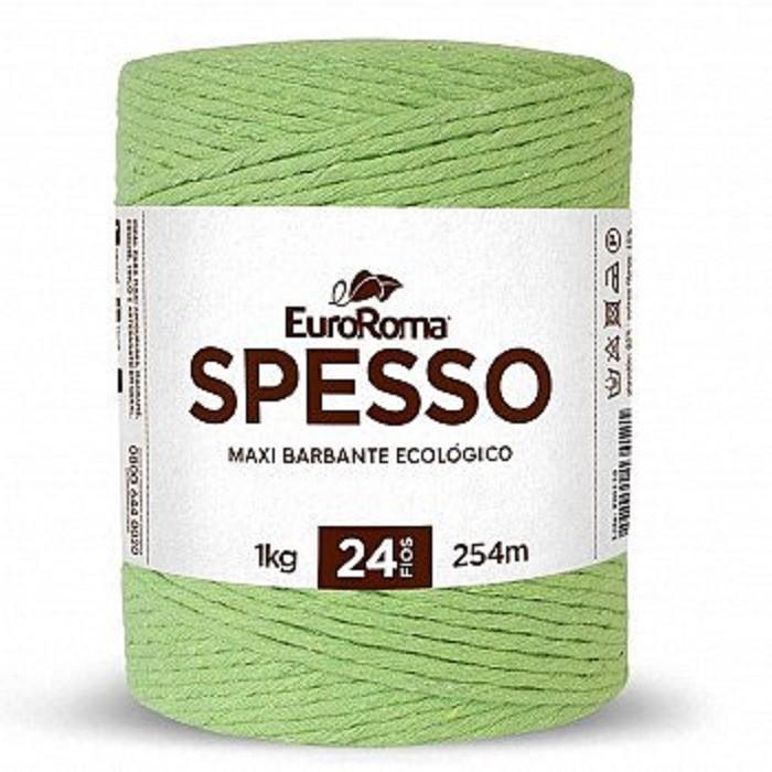 kit 3 Barbante euroroma Spesso 24 fios Cor Verde Limão