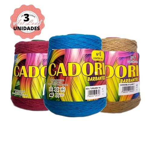 KIT 3 BARBANTES CADORI 4/6 ESPECIAL 700G CORES VARIADAS