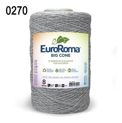 Kit 3 Unidades Barbante Euroroma 1.8kg N8 Cor Cinza