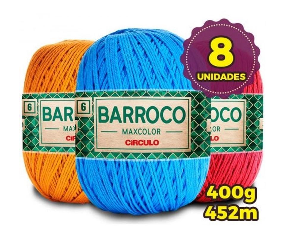 Kit Barbante Barroco Max Color Círculo - 8 Unidades - Cores Variadas