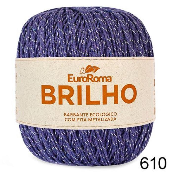 NOVELO EUROROMA BRILHO PRATA 4/6 - 400G - 406 M / ROXO