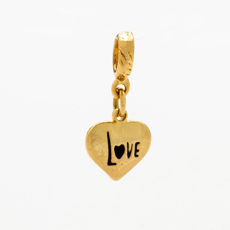 Berloque Coração Love Banhado Ouro 18k
