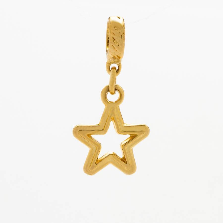 Berloque Estrela Banhada Ouro 18k