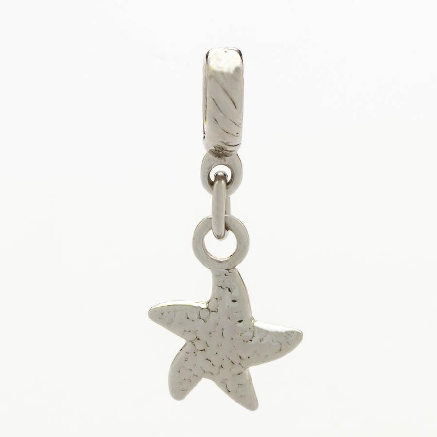 Berloque Estrela do Mar Banhado Ródio Branco