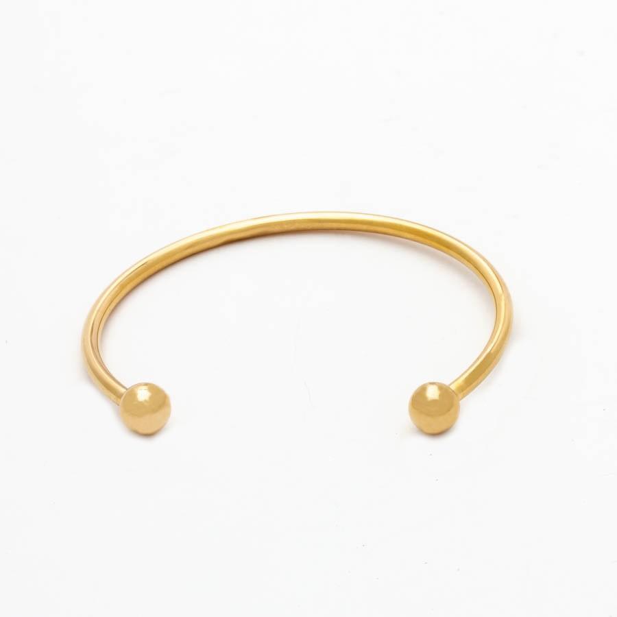 Bracelete Aberto Berloque Banhado Ouro18k