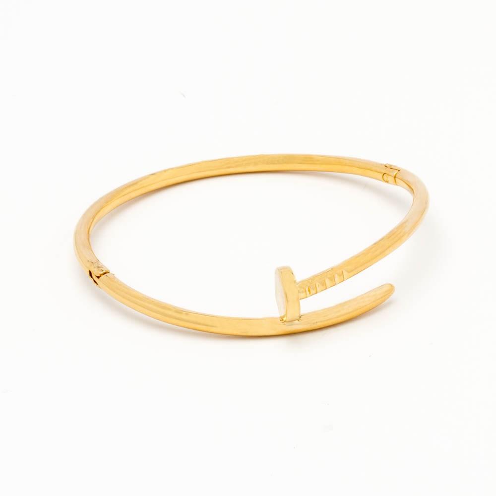 Bracelete prego banhado em ouro 18k