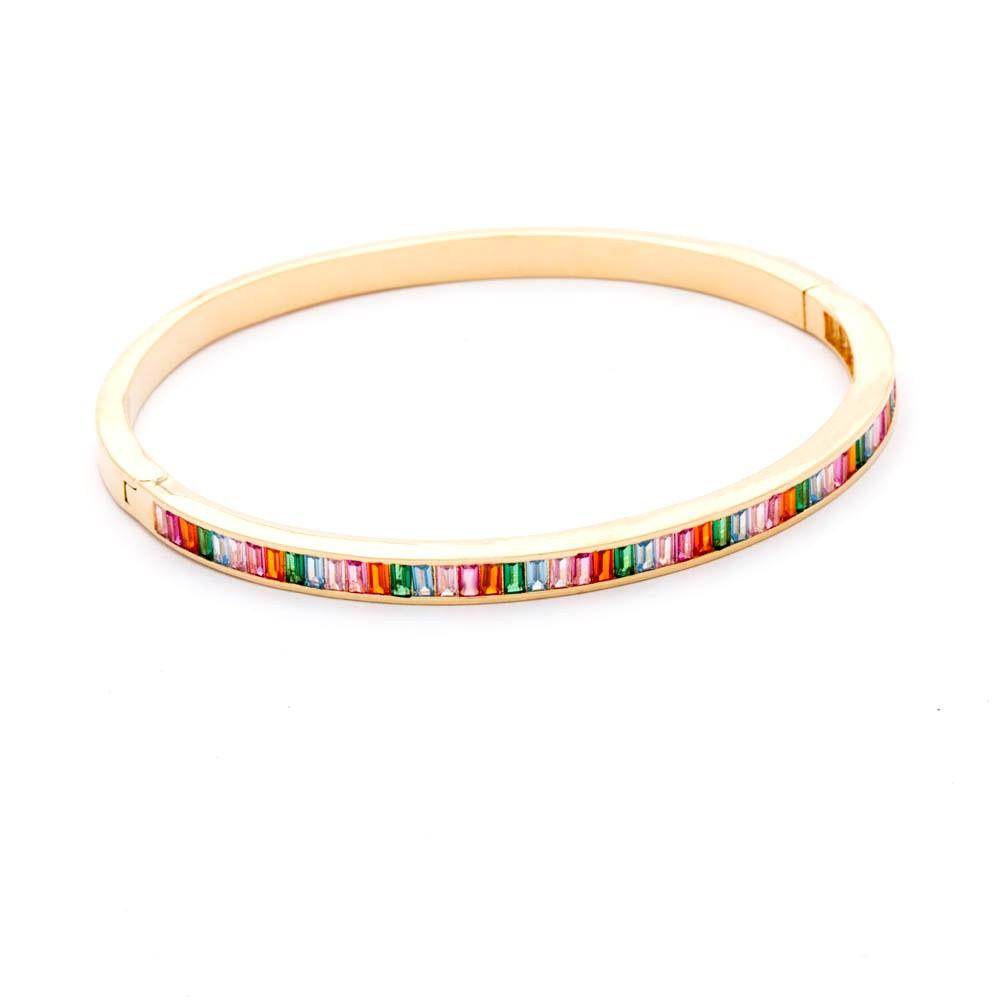 Bracelete  Rainbow Banhado Ouro 18k