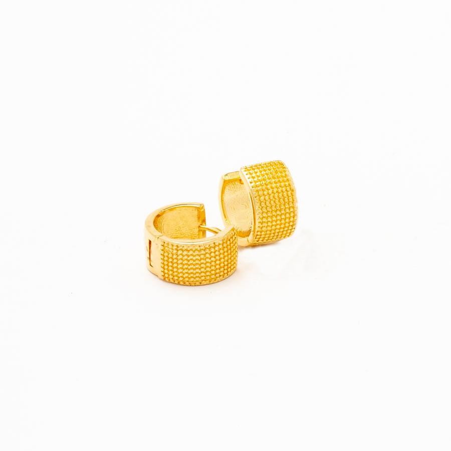 Brinco clic articulado banhado ouro 18k