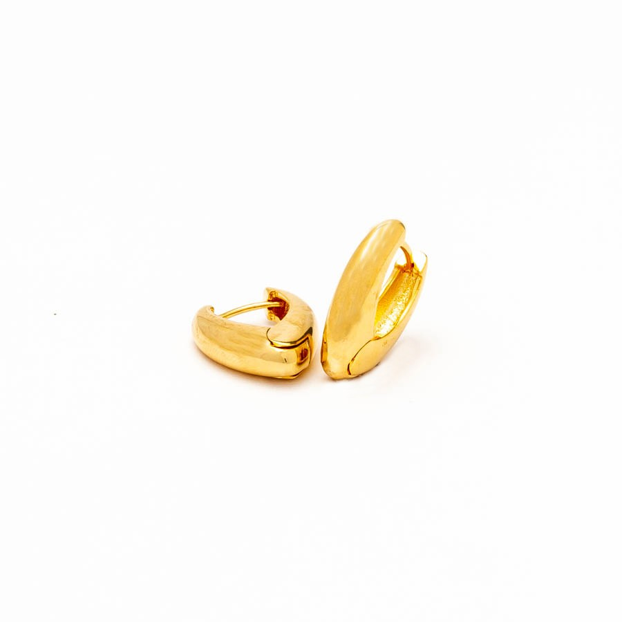 Brinco Clic  M  Banhado Ouro 18k