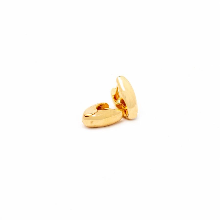 Brinco Clic  P  Banhado Ouro 18k