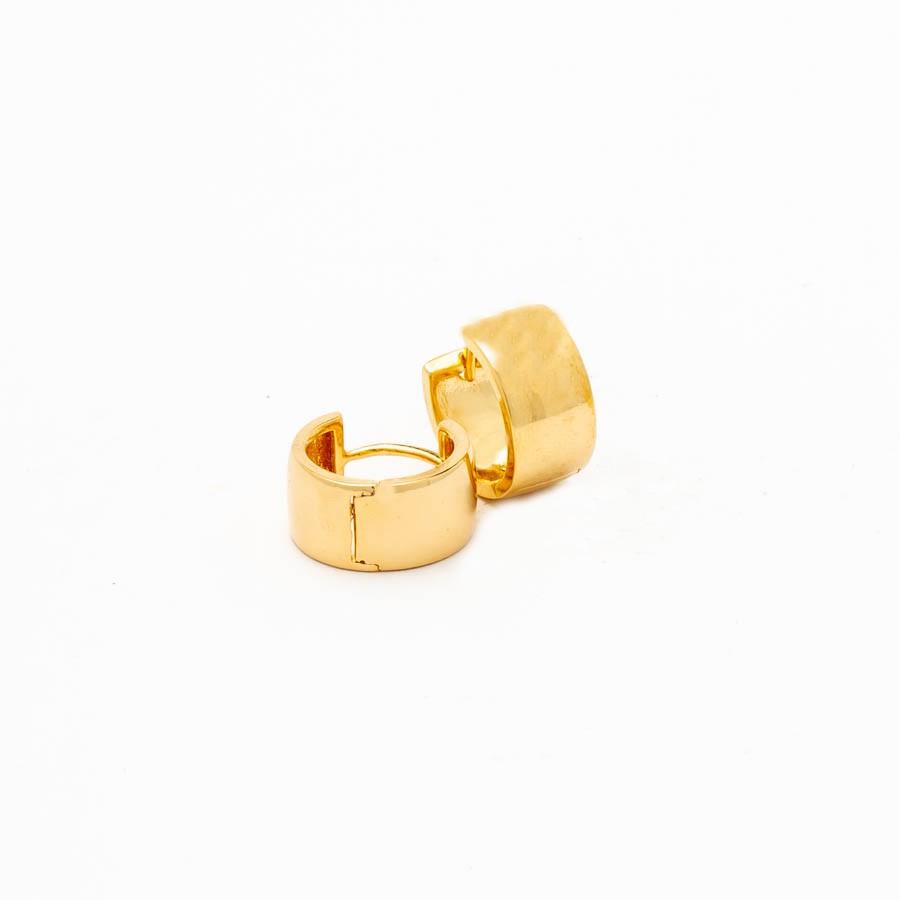 Brinco Clip Articulado Largo banhado Ouro 18k