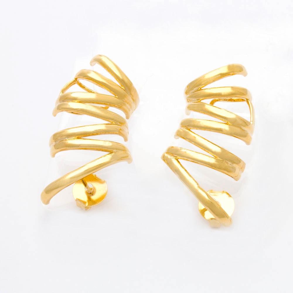 Brinco Ear Cuff Banhado Ouro 18k