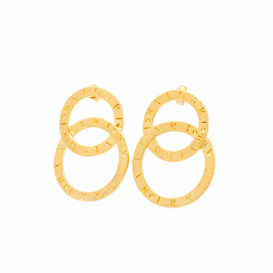 Brinco Replica Bylgari banhado ouro 18k