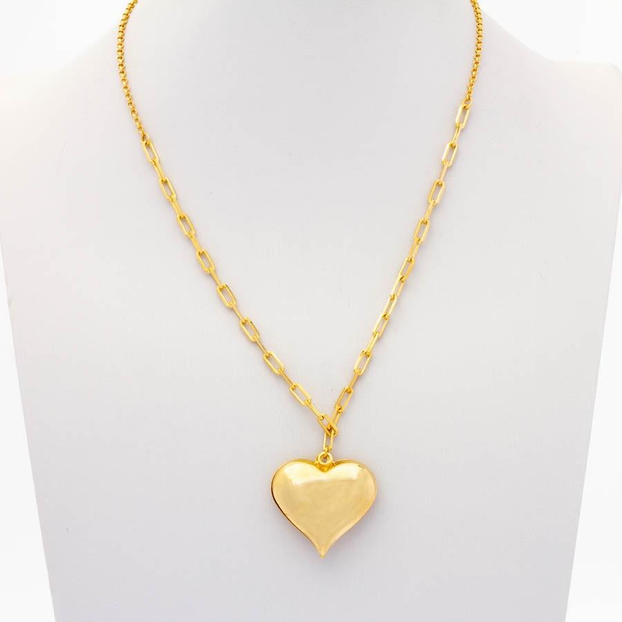 Colar cartier coração  banhado ouro 18k