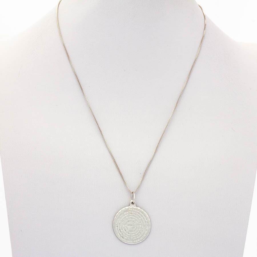Colar Veneziano Medalha Pai Nosso banhado ródio branco