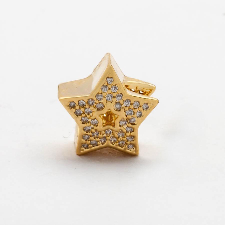 Separador  Estrela Cravejado Banhado Ouro 18k
