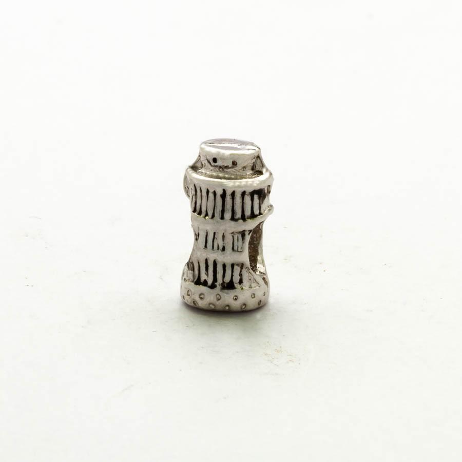 Separador Torre Pisa Banhado Ródio branco