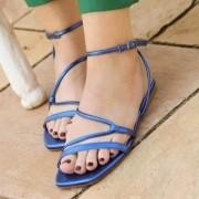 Sandália Rasteira Salthz Azul Royal VR 820.6140