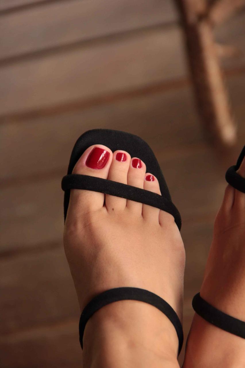 Sandália Salto Médio Quadrado Preto Vr 4900.40