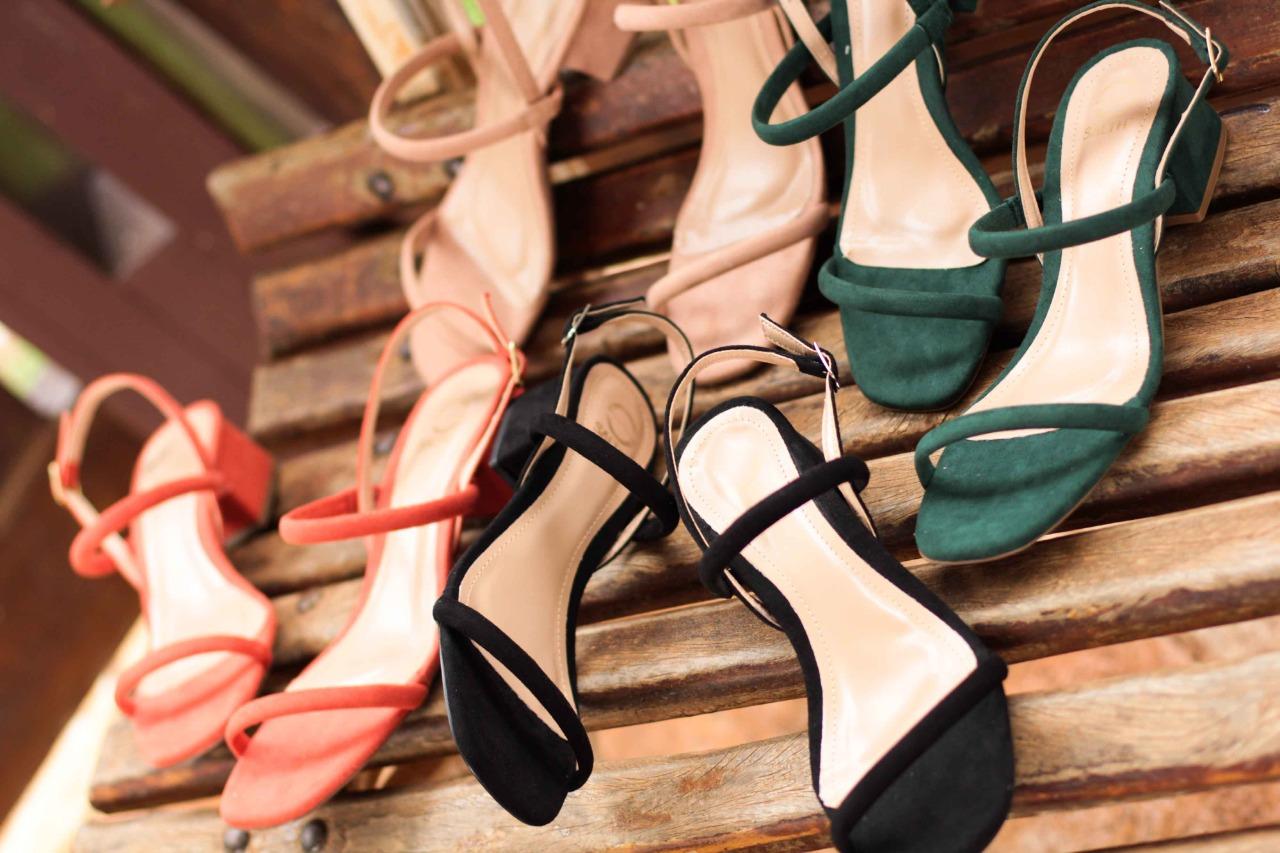 Sandália Salto Médio Quadrado Salthz Verde Vr 4900.40