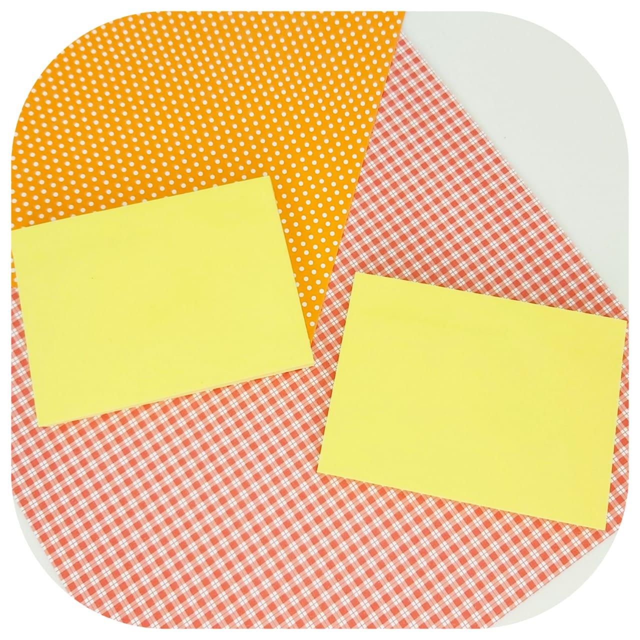 Bloco de Anotações - 76x102mm - Amarelo Pastel - BRW