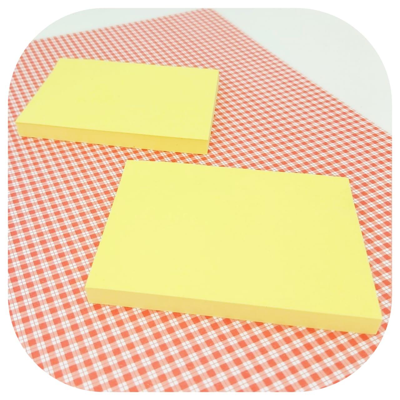 Bloco de Anotações Colável - 76x102mm - Amarelo Pastel - BRW