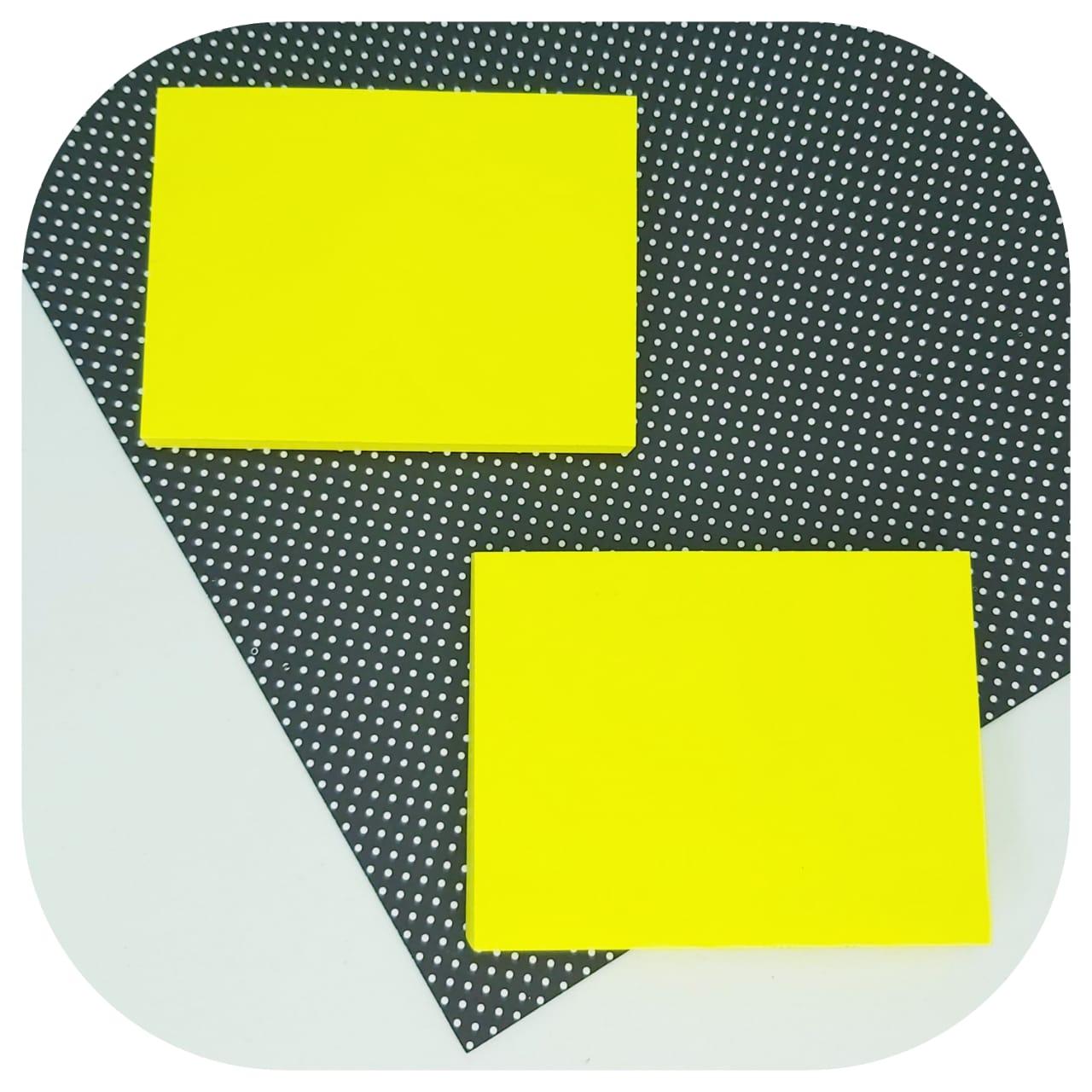 Bloco de Anotações - 76x102mm - Amarelo Neon - BRW