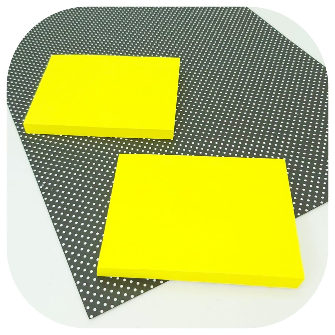 Bloco de Anotações Colável - 76x102mm - Amarelo Neon - BRW