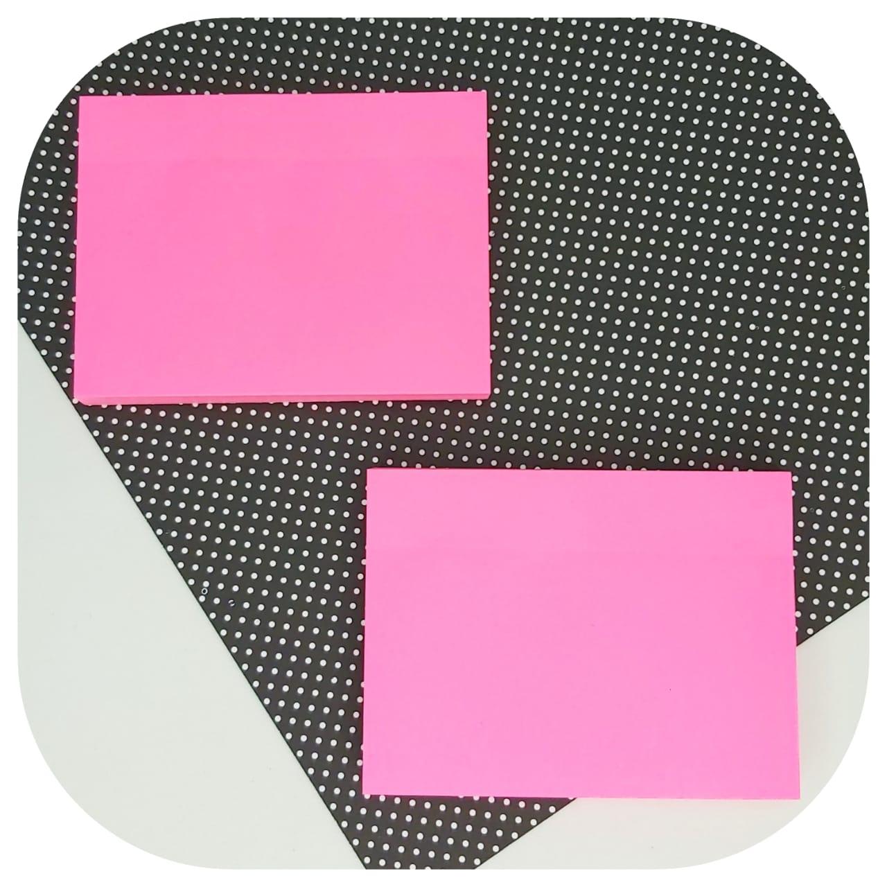 Bloco de Anotações - 76x102mm - Rosa Neon - BRW