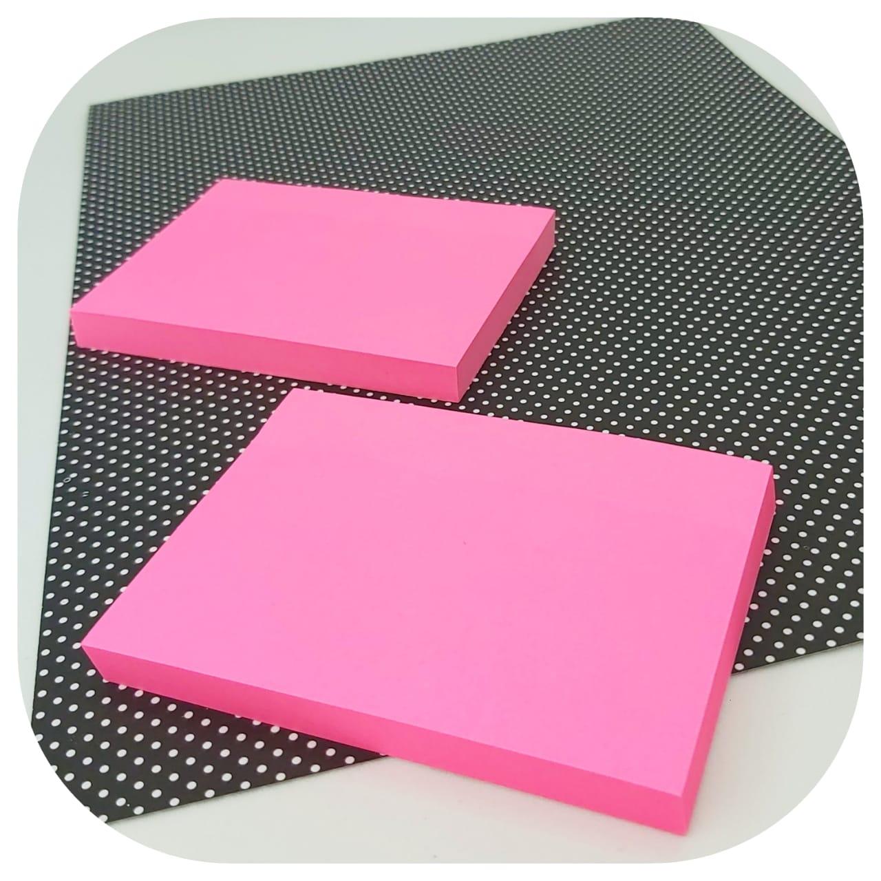Bloco de Anotações Colável - 76x102mm - Rosa Neon - BRW