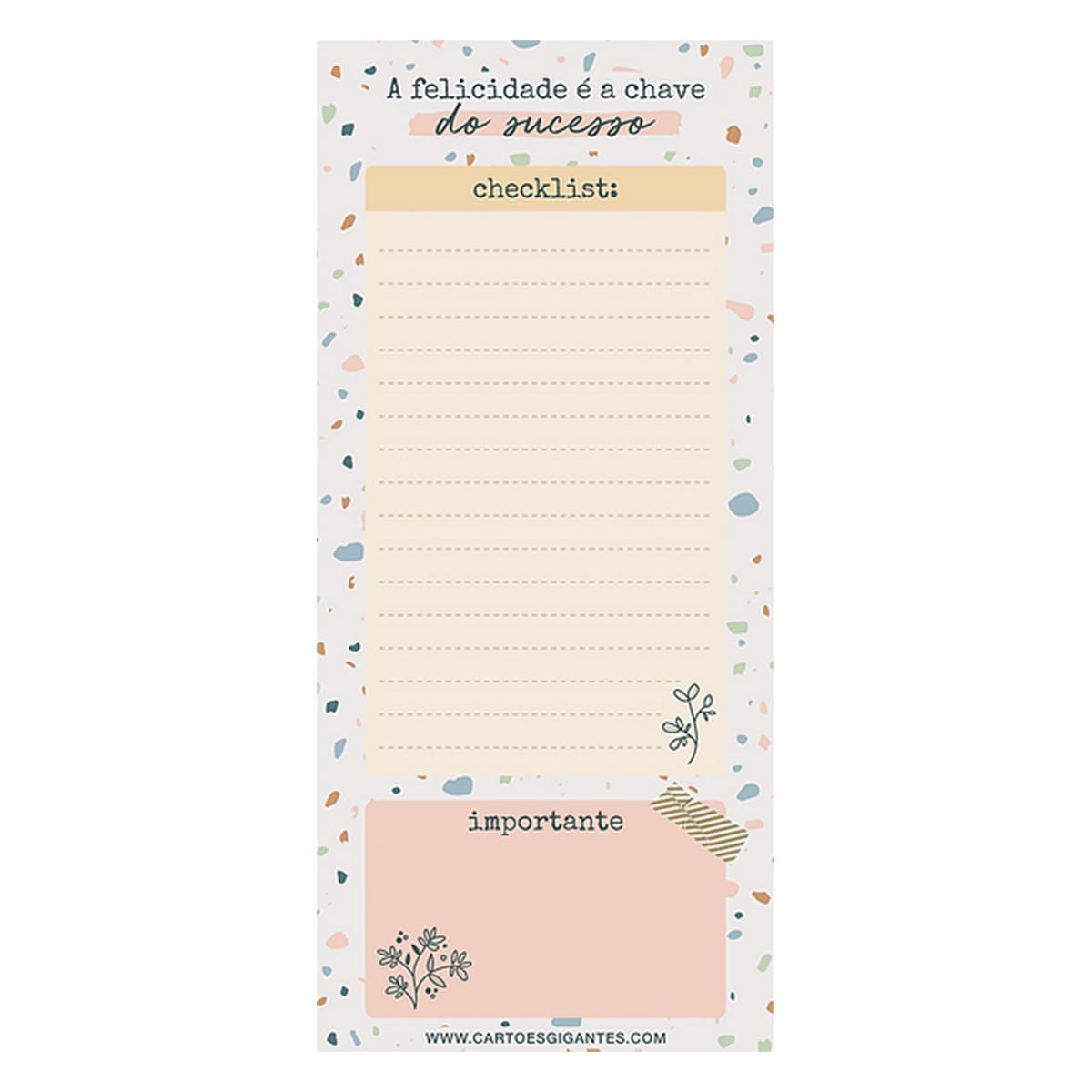 Bloco Note pad - Cartões Gigantes - Happiness