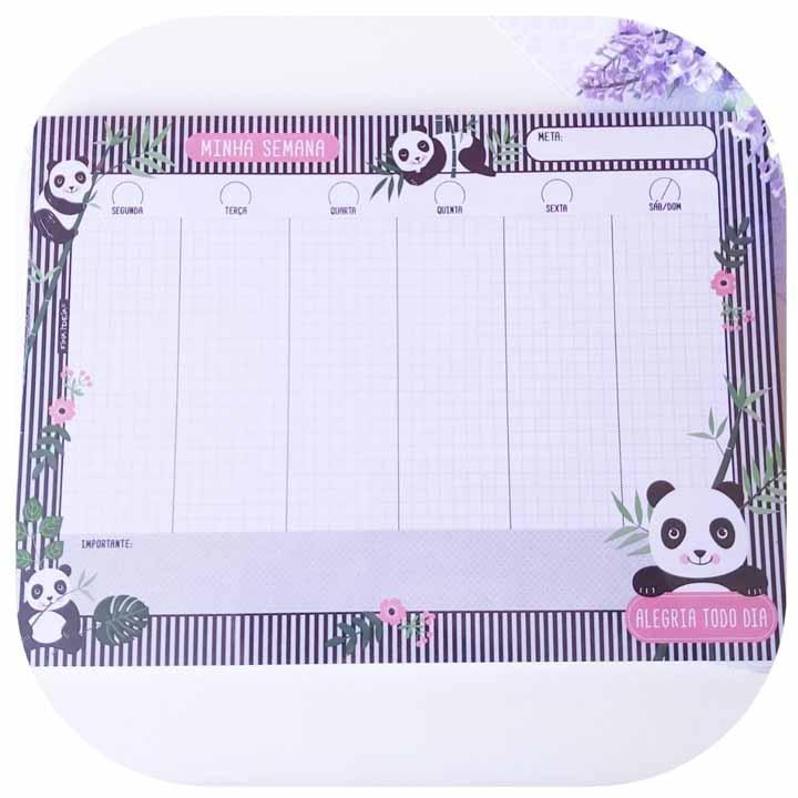 Bloco Semanal - Panda - 52 folhas