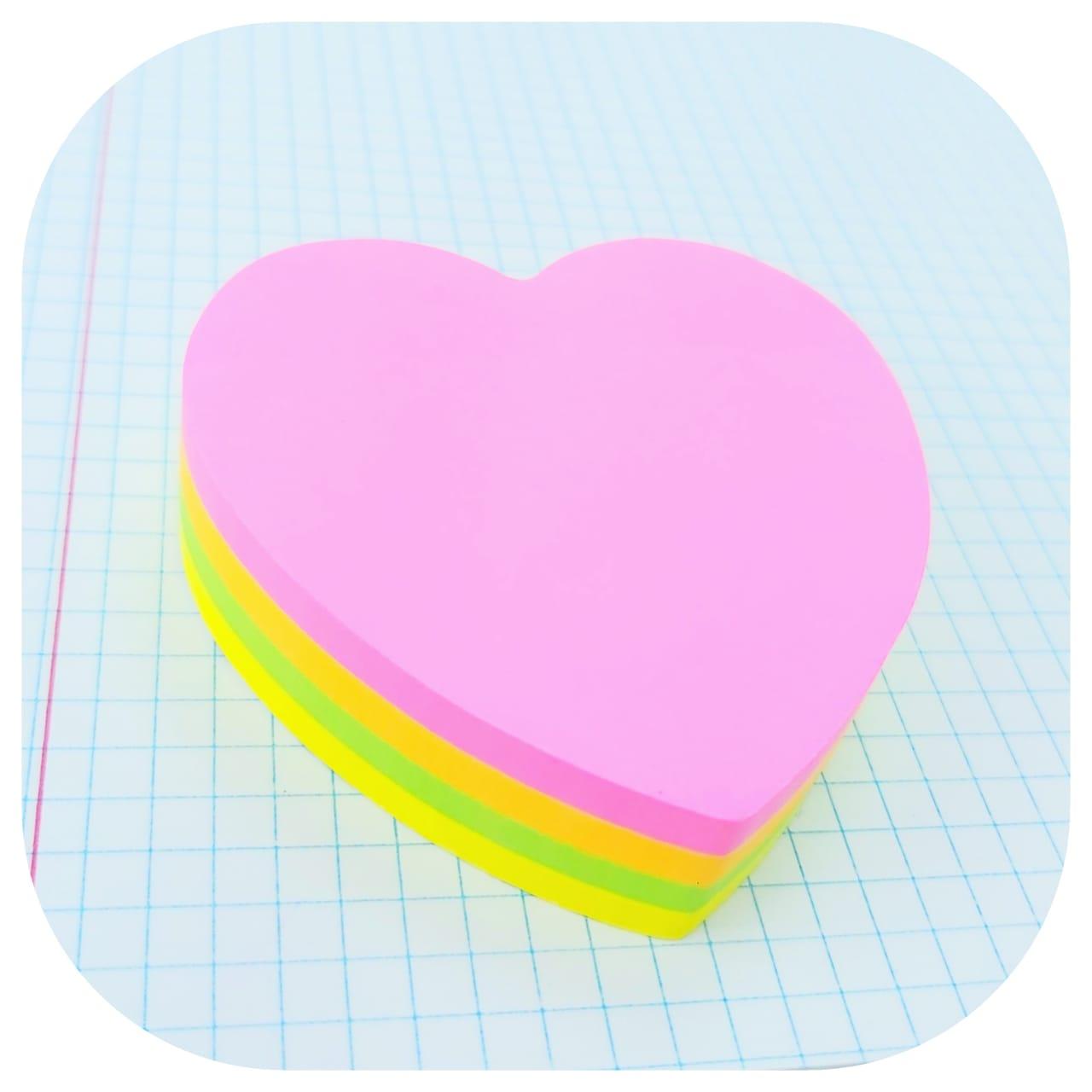 Bloco Smart Notes Neon - Coração - 70x70mm - 200 folhas - BRW