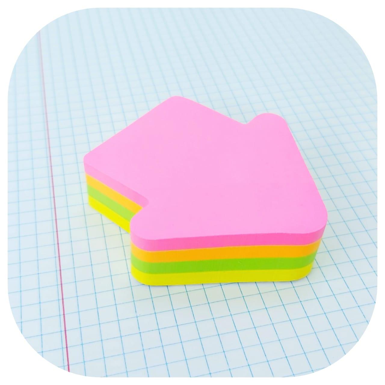 Bloco Smart Notes Neon - Seta - 70x70mm - 200 folhas - BRW