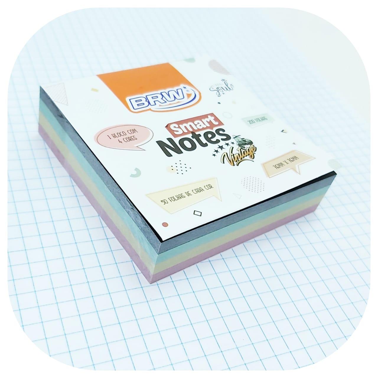 Bloco Smart Notes Vintage - Quadrado - 76x76mm - 200 folhas -BRW