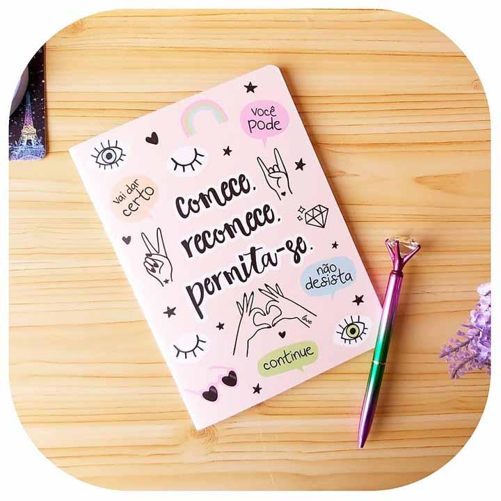 Caderneta Pontada - Comece, recomece, permita-se