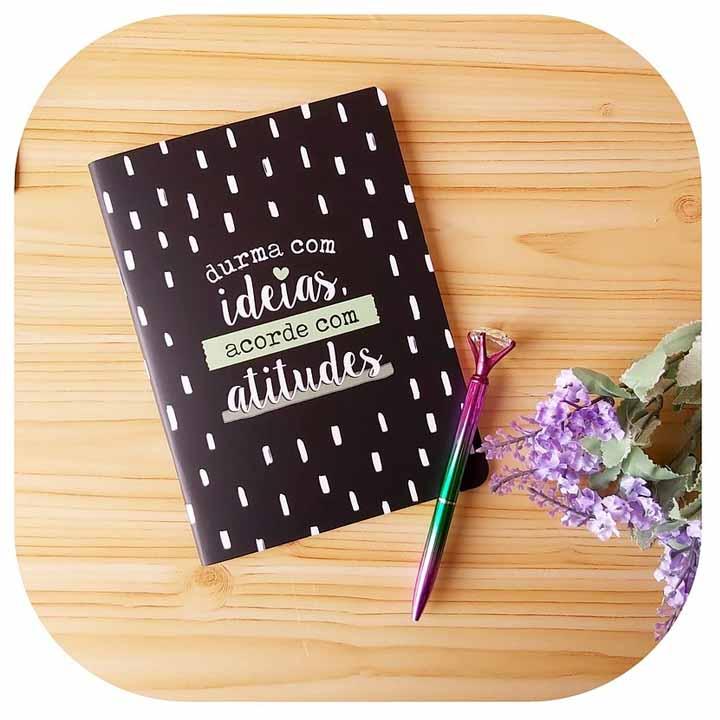 Caderneta Pontada - Durma com ideias, acorde com atitudes