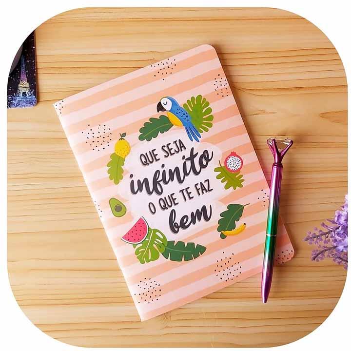 Caderneta Pontada - Que seja infinito o que te faz bem.