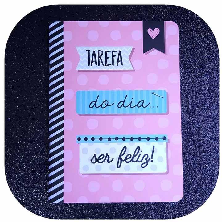 Caderneta Pontada - TAREFA DO DIA: SER FELIZ