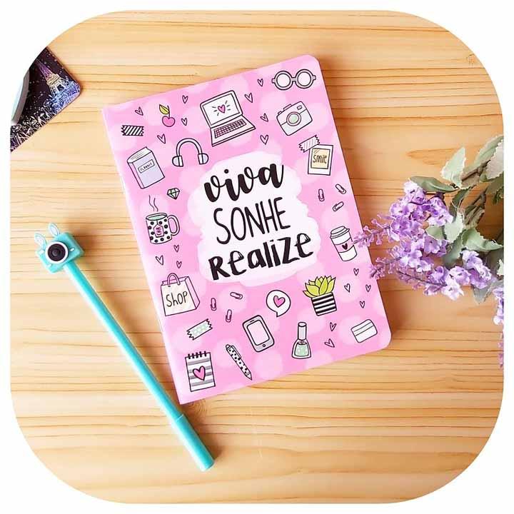 Caderneta sem pauta - Viva, sonhe, realize