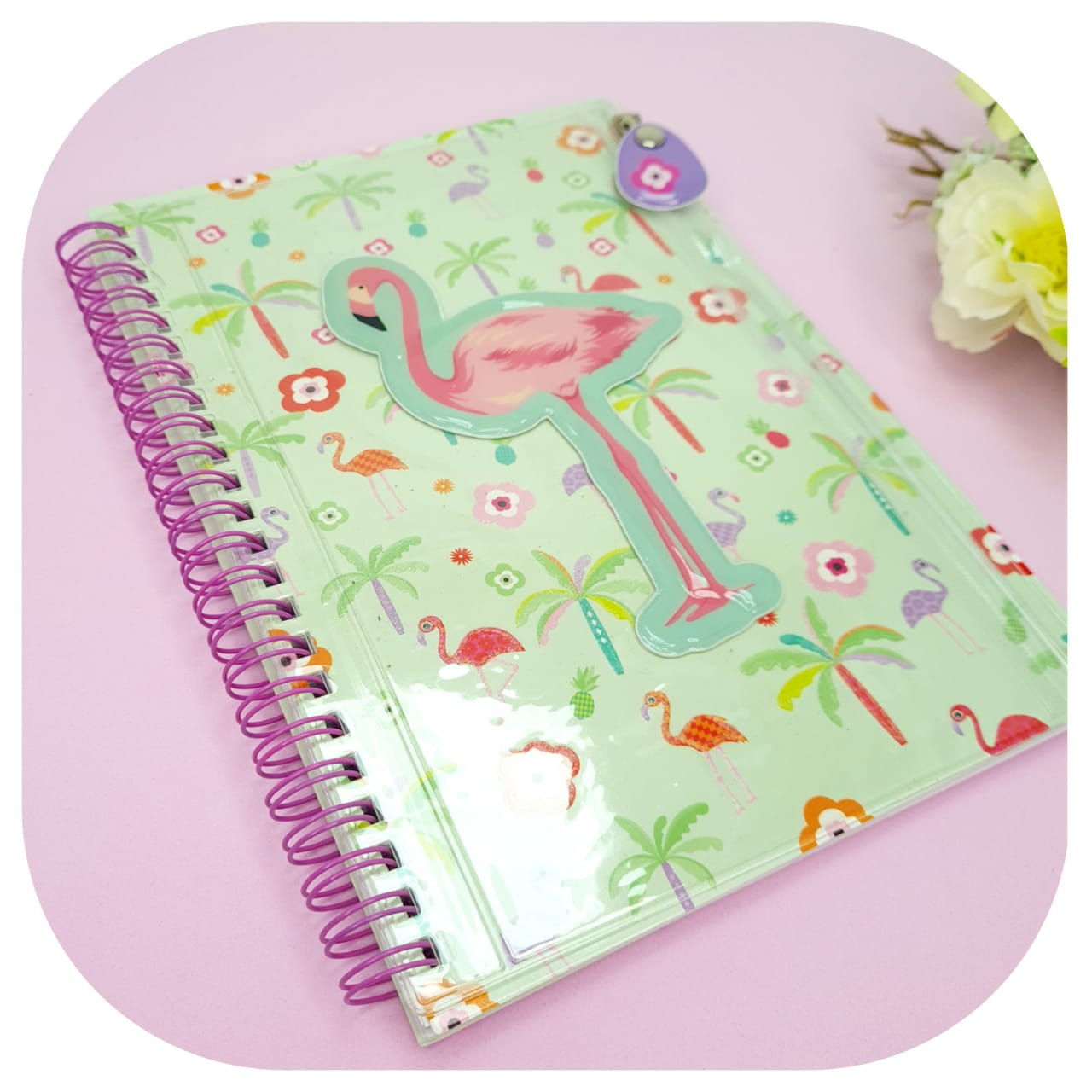 Caderno A5 - Capa estojo - Tipo ziper