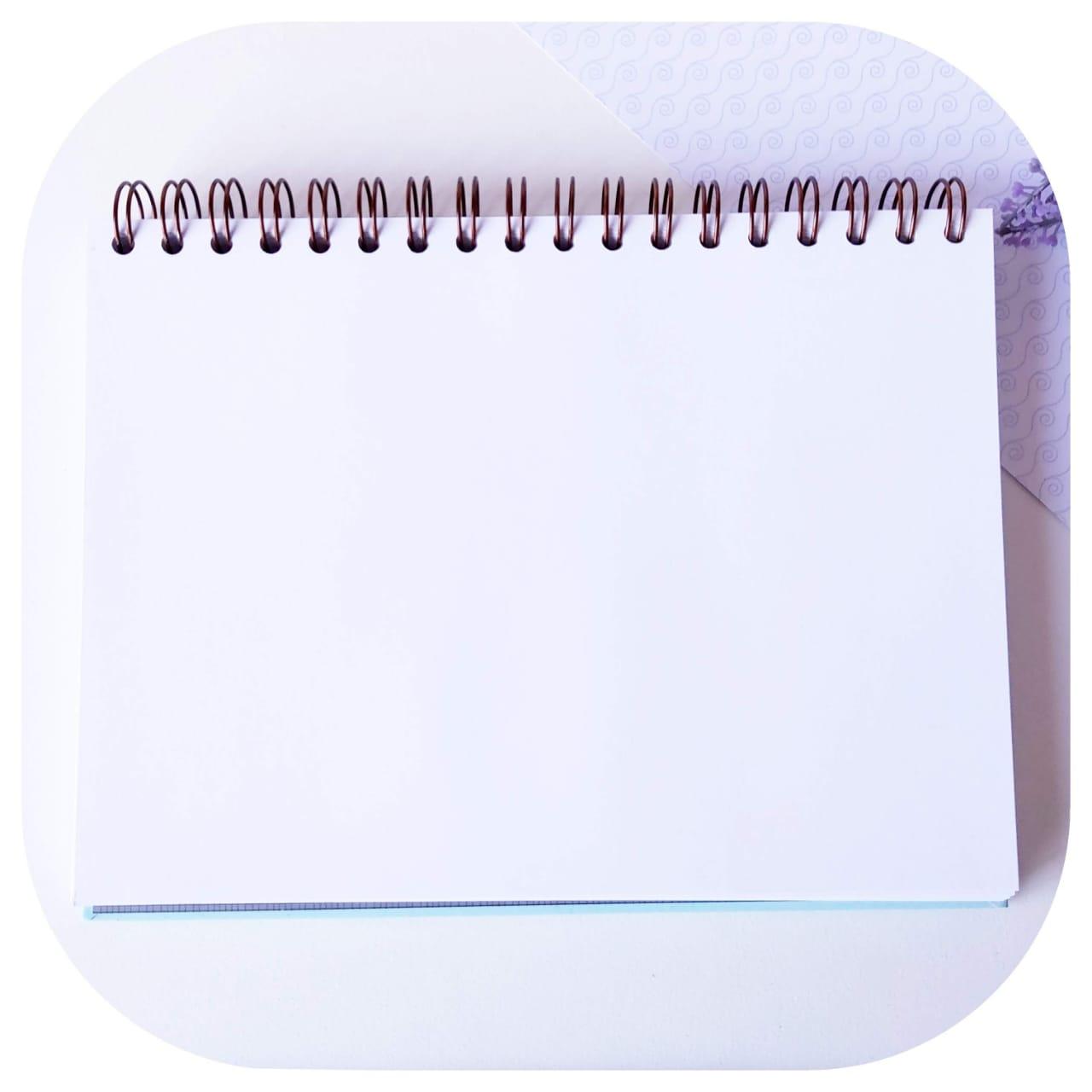 Caderno de Lettering - c/ Folhas Brancas
