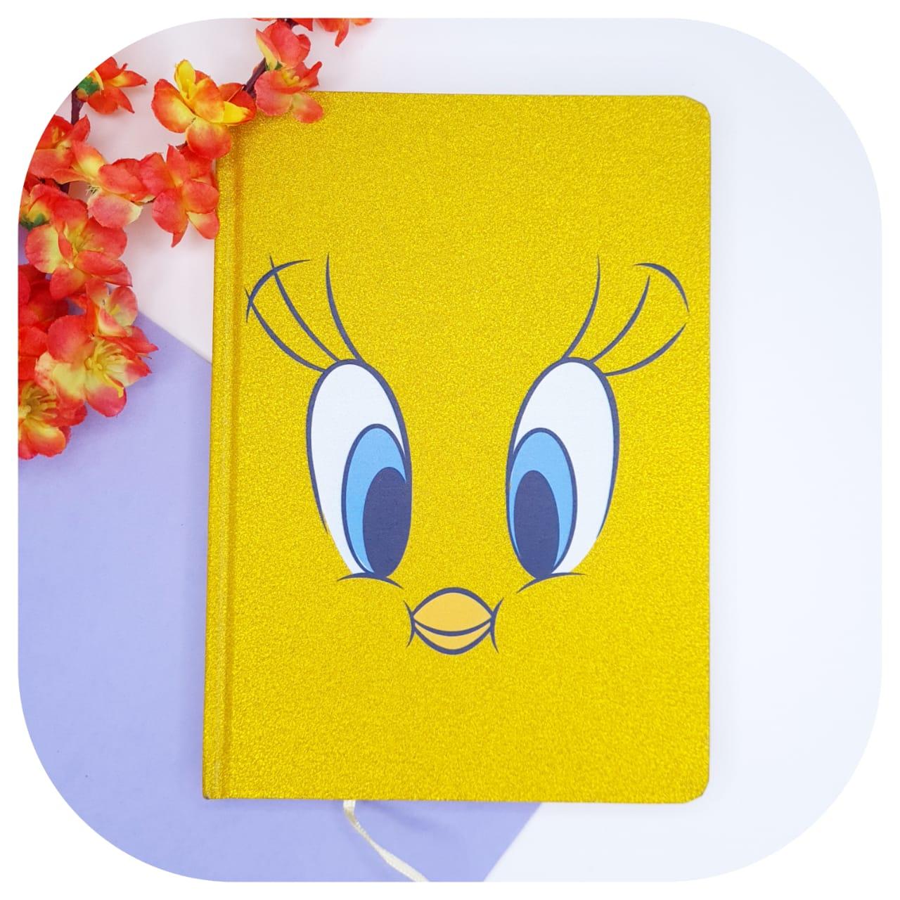 Caderno Piu Piu capa dura e com glitter