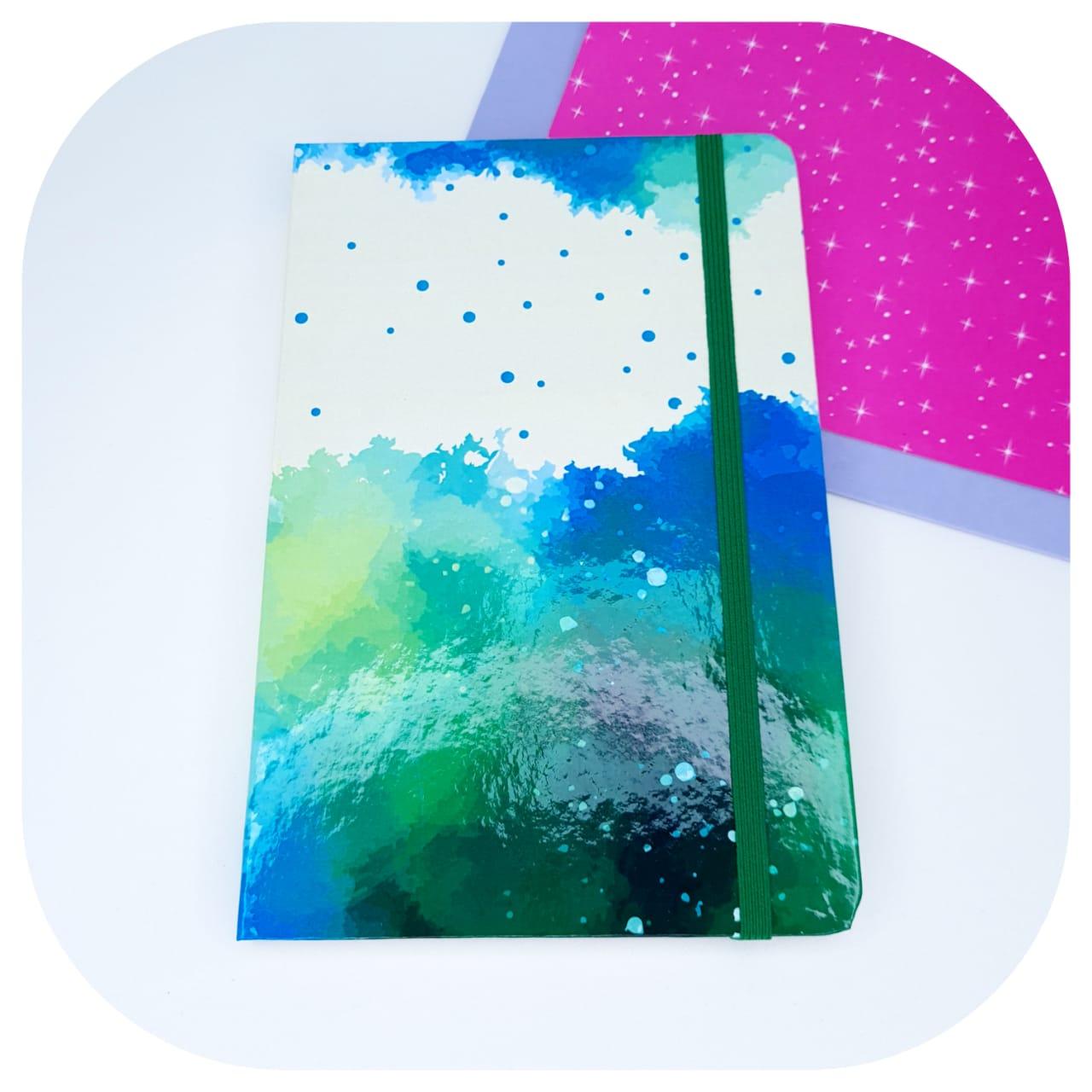 Caderno Pontilhado - Capa Aquarela