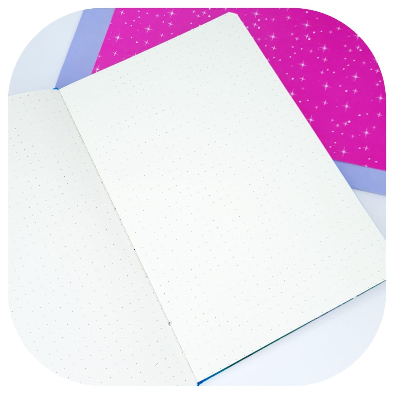 Caderno Pontilhado Azul