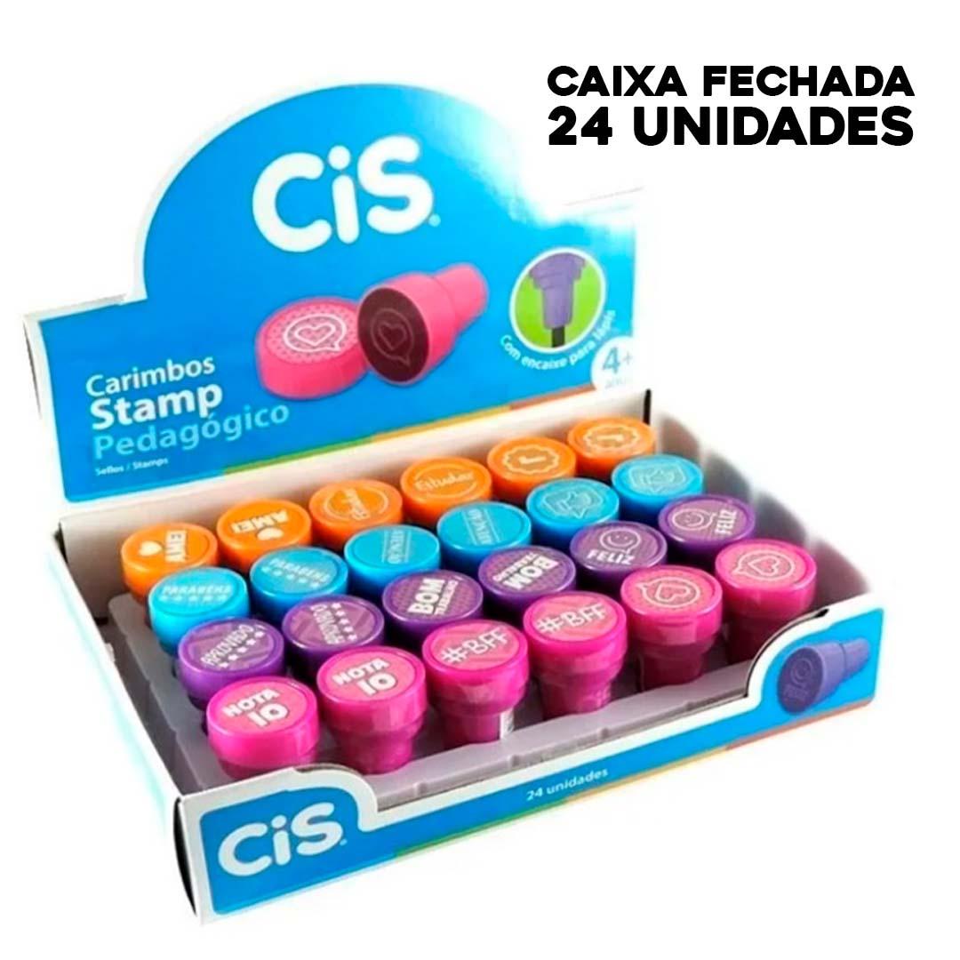 Caixa de Carimbos (24 uni) - Cis - Stamp Pedagógico