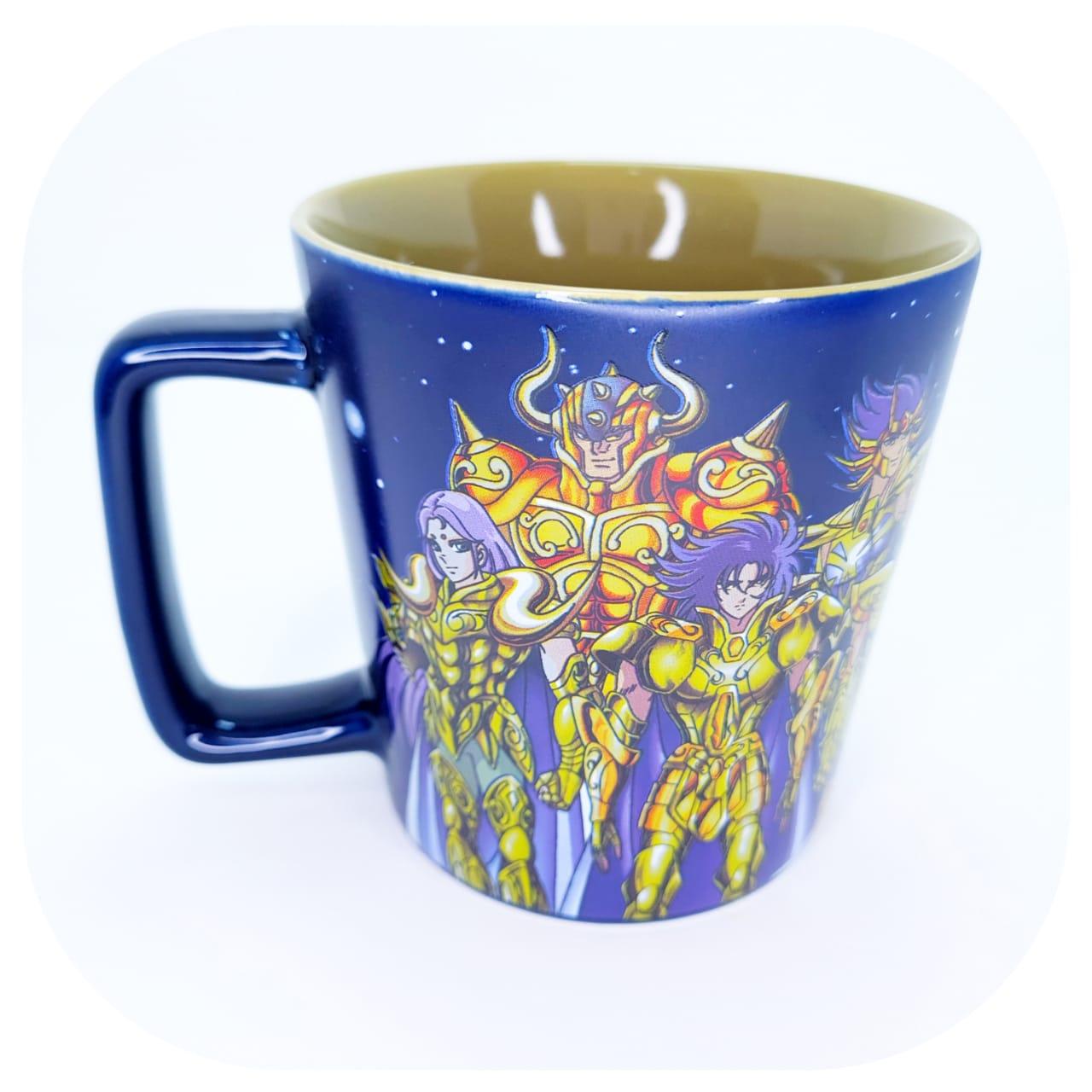Caneca de Cerâmica - Cavaleiros do Zodíaco - Cavaleiros de Ouro