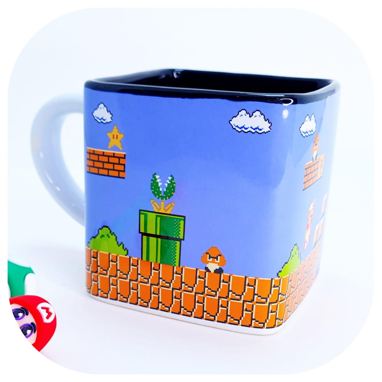 Caneca de Cerâmica - Quadrada - Mario