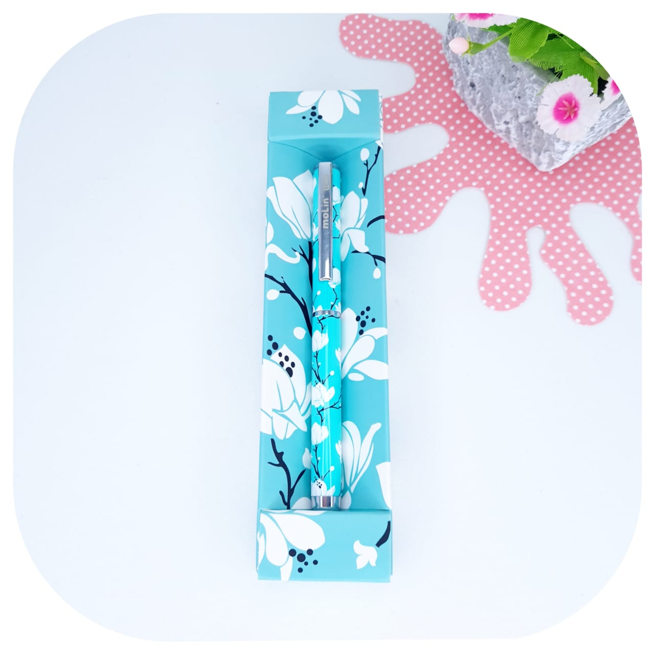 Caneta de Luxo Green Flowers - Molin